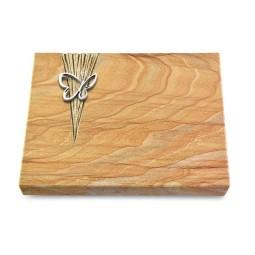 Grabtafel Omega Marmor Delta Papillon (Alu)