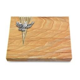 Grabtafel Omega Marmor Delta Taube (Alu)