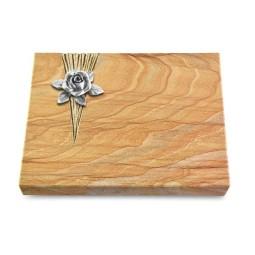 Grabtafel Omega Marmor Delta Rose 4 (Alu)