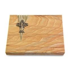 Grabtafel Omega Marmor Delta Baum 2 (Bronze)