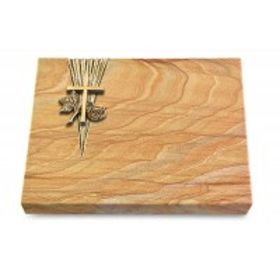 Grabtafel Omega Marmor Delta Kreuz 1 (Bronze)