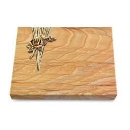 Grabtafel Omega Marmor Delta Rose 1 (Bronze)