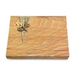 Grabtafel Omega Marmor Delta Rose 3 (Bronze)