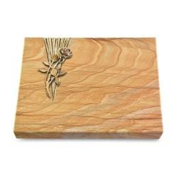 Grabtafel Omega Marmor Delta Rose 6 (Bronze)