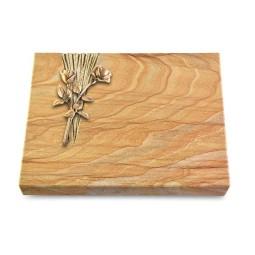 Grabtafel Omega Marmor Delta Rose 10 (Bronze)