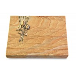 Grabtafel Omega Marmor Delta Rose 11 (Bronze)