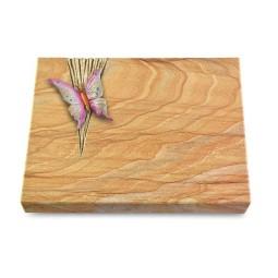 Grabtafel Omega Marmor Delta Papillon 1 (Color)