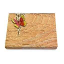 Grabtafel Omega Marmor Delta Papillon 2 (Color)
