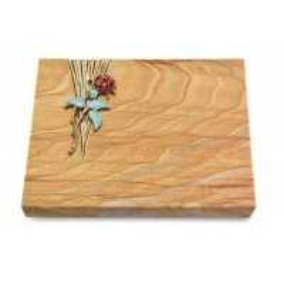 Grabtafel Omega Marmor Delta Rose 2 (Color)