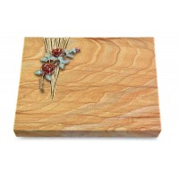 Grabtafel Omega Marmor Delta Rose 3 (Color)