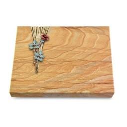 Grabtafel Omega Marmor Delta Rose 4 (Color)
