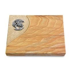 Grabtafel Omega Marmor Folio Baum 1 (Alu)