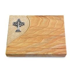 Grabtafel Omega Marmor Folio Baum 2 (Alu)