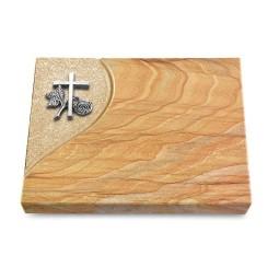 Grabtafel Omega Marmor Folio Kreuz 1 (Alu)