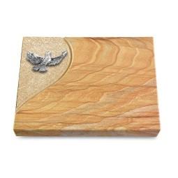 Grabtafel Omega Marmor Folio Taube (Alu)