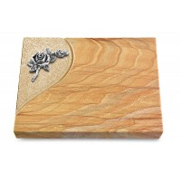 Grabtafel Omega Marmor Folio Rose 1 (Alu)