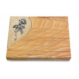Grabtafel Omega Marmor Folio Rose 2 (Alu)