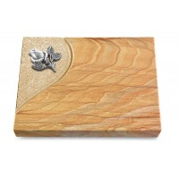Grabtafel Omega Marmor Folio Rose 3 (Alu)