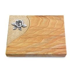 Grabtafel Omega Marmor Folio Rose 4 (Alu)