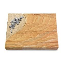 Grabtafel Omega Marmor Folio Rose 5 (Alu)