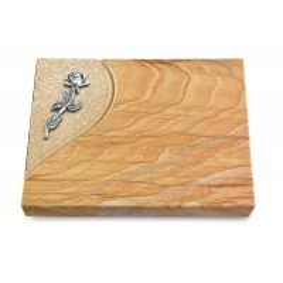 Grabtafel Omega Marmor Folio Rose 7 (Alu)
