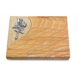 Grabtafel Omega Marmor Folio Rose 11 (Alu)