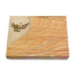 Grabtafel Omega Marmor Folio Taube (Bronze)