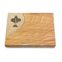 Grabtafel Rainbow Folio Baum 2 (Bronze)