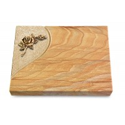 Grabtafel Omega Marmor Folio Rose 1 (Bronze)