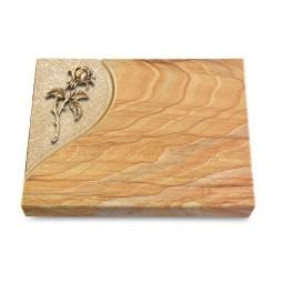 Grabtafel Omega Marmor Folio Rose 2 (Bronze)