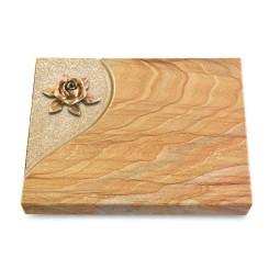 Grabtafel Omega Marmor Folio Rose 4 (Bronze)