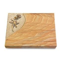 Grabtafel Omega Marmor Folio Rose 6 (Bronze)