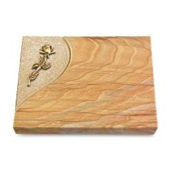 Grabtafel Omega Marmor Folio Rose 7 (Bronze)