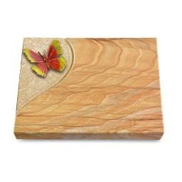 Grabtafel Omega Marmor Folio Papillon 2 (Color)