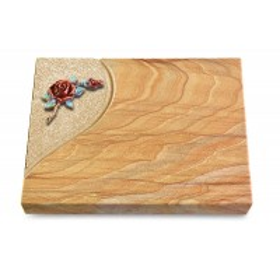 Grabtafel Omega Marmor Folio Rose 1 (Color)