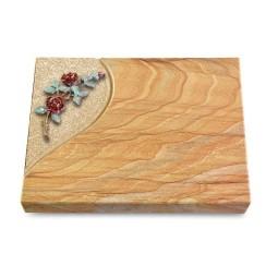 Grabtafel Omega Marmor Folio Rose 3 (Color)