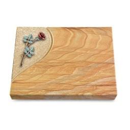 Grabtafel Omega Marmor Folio Rose 4 (Color)