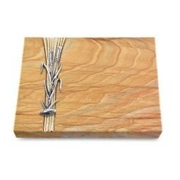 Grabtafel Omega Marmor Strikt Ähren 2 (Alu)