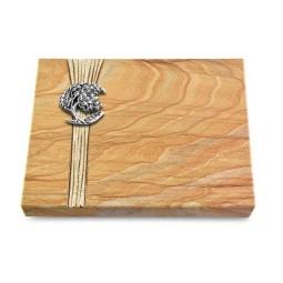 Grabtafel Omega Marmor Strikt Baum 1 (Alu)