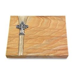 Grabtafel Omega Marmor Strikt Baum 2 (Alu)