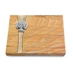 Grabtafel Omega Marmor Strikt Baum 3 (Alu)