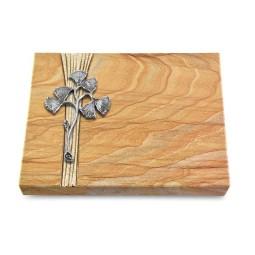 Grabtafel Omega Marmor Strikt Gingozweig 1 (Alu)