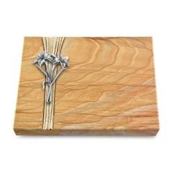 Grabtafel Omega Marmor Strikt Lilie (Alu)