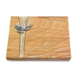 Grabtafel Omega Marmor Strikt Taube (Alu)