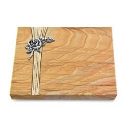 Grabtafel Omega Marmor Strikt Rose 1 (Alu)