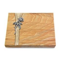 Grabtafel Omega Marmor Strikt Rose 2 (Alu)