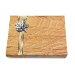 Grabtafel Omega Marmor Strikt Rose 3 (Alu)