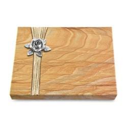 Grabtafel Omega Marmor Strikt Rose 4 (Alu)