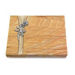 Grabtafel Omega Marmor Strikt Rose 6 (Alu)