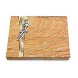 Grabtafel Omega Marmor Strikt Rose 7 (Alu)